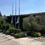Flags at half mast. Mourning Israels Ninth President #ShimonPeres https://t.co/qB3CY8Ja98