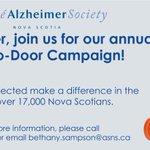 October is Door-to-Door month & all of the money raised in Nova Scotia, STAYS in Nova Scotia, providing support to those living w #dementia! https://t.co/gSOuzas6aZ