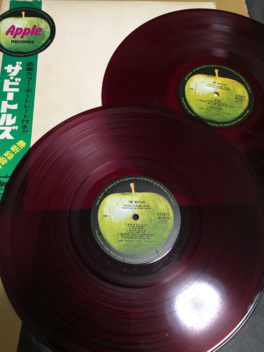 家に着くとホワイトアルバムの帯付き赤盤が届いていました!🎉 今聴いてしまうと今日中に仕上げなくちゃいけない仕事が絶対終わ