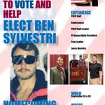 Be thinking of one of ULMs finest @BenSylvestri when voting for Homecoming King! https://t.co/fpqhrX1S2n