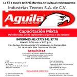 ST a través del SNE Morelos te invitan al reclutamiento de Capacitación Mixta para Industrias Tecnos #MorelosAvanza https://t.co/z6Zi3DZbRq