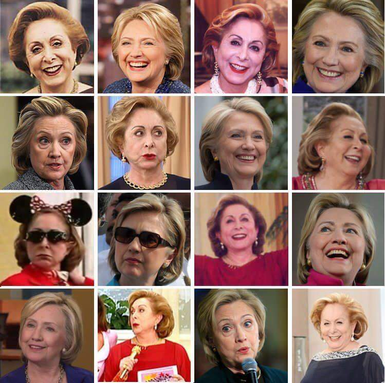 Hillary Clinton or Aracy Balabanian? https://t.co/iuL1bn3Bez