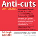 Follow us here on Saturday to keep up to date with the convo at our anti-cuts conference as we take the fight to the SNP and the Tories 🌹💪🏻 https://t.co/0lozhQqqfW
