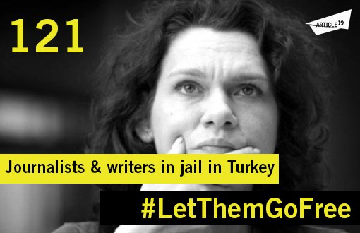 121 journalists and writers in jail in #Turkey #LetThemGoFree #JournalismIsNotACrime #AslıErdoğan https://t.co/VgtIM96QpE