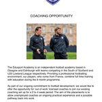 Coaching opportunities for @ScottishFA licensed coaches @EdusportAcademy @grpat #SFACoachEd https://t.co/roSBAMxGnr