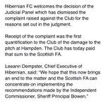 HIBERNIAN Club statement in response to @ScottishFA taking no further action against either Hibs or Rangers for Scottish Cup final disorder. https://t.co/DJmrpixo1L