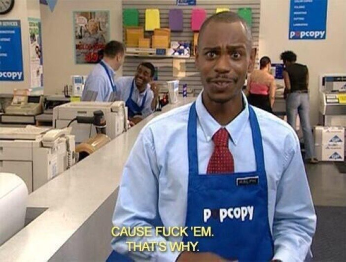 Why don't you & _____ talk anymore?   Me: