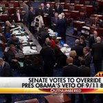 Breaking News: The Senate has enough votes to override President Obamas veto of the 9/11 bill. https://t.co/aQka4JC2D8