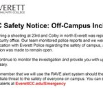 EvCC Safety Notice: Off-Campus Incident https://t.co/3Q9twstgYl