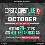 Vote for me to perform at #Miami Revolt Edition 10/14/16! https://t.co/SwDclrKW1S #Coast2Coast https://t.co/3goxzOThz6