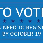 The voter registration deadline is 3 weeks away. Make sure your voter information is up to date: https://t.co/g1xroLhd7B https://t.co/aaqCRIyBjB