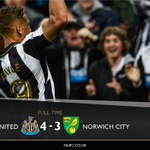 FULL TIME Newcastle United 4-3 Norwich City - What a sensational comeback!!! #NUFC https://t.co/pcA8ts8ObF