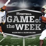 Week Six Game Of The Week: Klein Oak vs. Klein Collins sponsored by @8OClockCoffee #txhsfb https://t.co/e4Mi2MHcuc https://t.co/m2zxppR6Dm