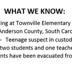 #BREAKING: Shooting at Townville Elementary School in Anderson County, South Carolina (near the Georgia state line) https://t.co/FMztq8BLOf https://t.co/1zi1e7ckXI