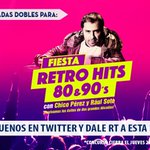 [CONCURSO] @chico_perez Te espera este viernes 30 en la imperdible fiesta RETRO HITS 80 & 90's https://t.co/SP46RTqe7r