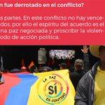 Mito o realidad, ¿Quién fue derrotado en el conflicto? #LaPazSiEsContigo https://t.co/yWHv0qBpue