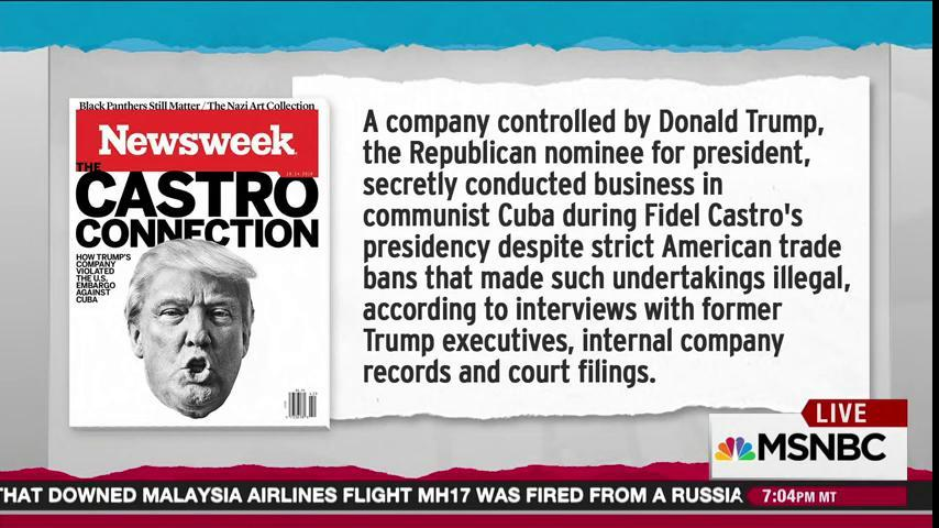 Exclusive! Sneak peek at @KurtEichenwald's new Newsweek piece coming tomorrow. #Maddow https://t.co/d6x3wrUPn4