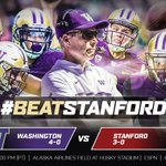 Rooting on Washington in their Top 10 showdown tomorrow at Husky Stadium. #BeatStanford #PurpleReign #GoDawgs! https://t.co/7IUAaDPlWG