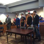 HAPPENING NOW-- Robert Vela football players facing charges for vandalism https://t.co/etu5faVDIB