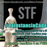 Lugar de bandido é na prisão e não escondido na incapacidade do STF em julgar corrupção no Brasil!! #2aInstanciaCadeia https://t.co/DGIfXLsaET