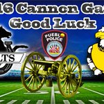 The Pueblo Police Department would like to wish both teams good luck on this Fridays  Cannon Game! https://t.co/xNEmOfvX6Y