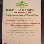 Voting for @OHLionsFB at the West Boca @JambaJuiceSFL ... We need your support, please. Voting is close! https://t.co/ZAtI16eE48