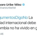 La comunidad internacional debe saber que las víctimas de la guerra en Colombia no opinan lo mismo. https://t.co/MnVH6bZULL