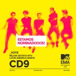 ¡ESTAMOS NOMINADOS! ¡VOTA POR NOSOTROS! MEJOR ARTISTA MTV LATIN AMERICA NORTE @mtvema @MTVLA #MTVEMA https://t.co/fw48SnaH9M https://t.co/jwVmuXufqB