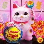 今日は招き猫の日!おいしいおいしいチュッパチャプスたちよ、我に集まるニャ~! #チュッパチャプス #招き猫の日 #おいしい https://t.co/7yPi8oaRTL