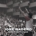 """José Madero en persona! 29 y 30 de Septiembre CDMX Teatro Metropólitan. Mañana y pasado mañana presentando """"Carmesí"""" https://t.co/JUxJJhBI0T"""