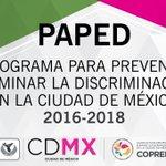 Conoce las estrategias y líneas de acción para eliminar la discriminación en la CDMX. https://t.co/nnUWNio1l4 https://t.co/zMlYNH6H4C