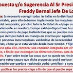 Propuesta al Sr Presidente Y Al Camarada Freddy Bernal Jefe De Los Claps (Registro + Tarjetas) https://t.co/95FQFqkumy