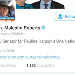 BREAKING: Malcolm Roberts fulfils election promise to follow every single person that voted for him. https://t.co/6nwbbrPAmY