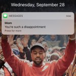 this is the best screensaver cos whenever i get a notification, Kanye holds it up for me https://t.co/W3bpDt82MA