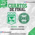 Coritiba de Brasil rival de Atlético Nacional en los cuartos de final de la Copa Sudamericana. ¡Vamos verde! https://t.co/H8c1iyvuGt