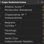 Resultados juegos de hoy en Copa Sudamericana, @DIM_Oficial @JuniorClubSA y @nacionaloficial avanzaron, @SantaFe juega mañana https://t.co/Z0NtB96Bhg
