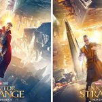 """Doctor Strange"" Upside-Down Character Posters. Ahh! My neck! Which way is up? https://t.co/SmH00NzmUx https://t.co/0q7AI6FDEY"