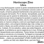 #HoróscopoZino #Libra https://t.co/tFfm4ZI2rv