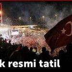 """15 Temmuz """"ŞEHİTler ve GAZİler""""Günü Olarak Resmi Tatil İlan Edildi  @memetsimsek @EyupOzkececi @semihavci @ahmet_uzer27 @mehmeterdogan27 https://t.co/JzytkO8wrk"""