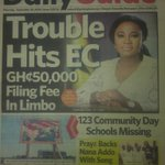 Also in Daily Guide: Pray3 backs Nana Addo with song #ElectionCommand https://t.co/sqvpk8UjIJ