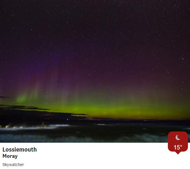 Another night of stunning #AuroraBorealis shots from our @BBCWthrWatchers. #northernlights @BBCBreakfast @BBCRadio2 https://t.co/IOuhnB0lpN