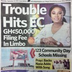 Also in the Daily Guide: 123 Community Day Schools missing *** Praye backs @NAkufoAddo with song #CitiCBS https://t.co/P1OH2DNEMi