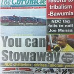 NDC resorts to tribalism - @MBawumia *** You can stowaway - NDC chatterbox advises Takoradi youth #CitiCBS https://t.co/OtydEW9h7q