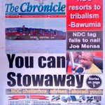 The Chronicle You can stowaway ..NDC chatterbox advises Takoradi youth #GHToday @GhOneTV https://t.co/3yXzxR3XL9
