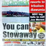 Also in THE CHRONICLE: NDC tag fails to nail Joe Mensah #MorningStarr https://t.co/wckUm2EJro