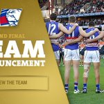 The #AFLGF team is IN. NO CHANGE 📋 https://t.co/6xdSWhJsav #bemorebulldog https://t.co/obC9Istwp7