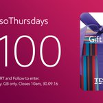 Live, love, laugh, RT and FLW for your chance to win a £100 Tesco voucher. #EssoThursdays https://t.co/EcQP7tKol8 https://t.co/LTyRRtVjlD