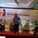 "@AzzamAmeen takes the stage at RTI #SriLanka & Media Reforms Conference on ""The Emerging Giant- Social Media"" https://t.co/xGXsTHkapg"