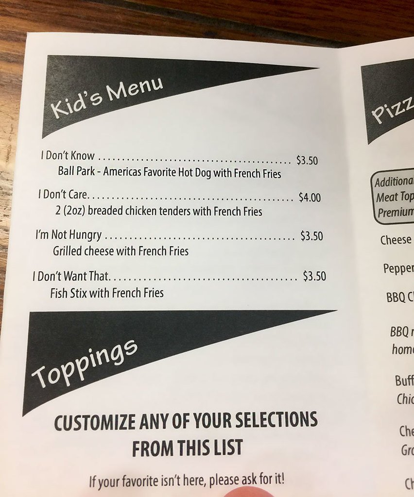 Restaurant Makes Genius Menu To Deal With Difficult Kids https://t.co/ol5G43mhv6 https://t.co/4kV4PdP47Q