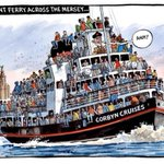 Today's Times cartoon is really appalling. Straight-up fear-mongering hatred of migrants. https://t.co/1ROcZ9mIWY